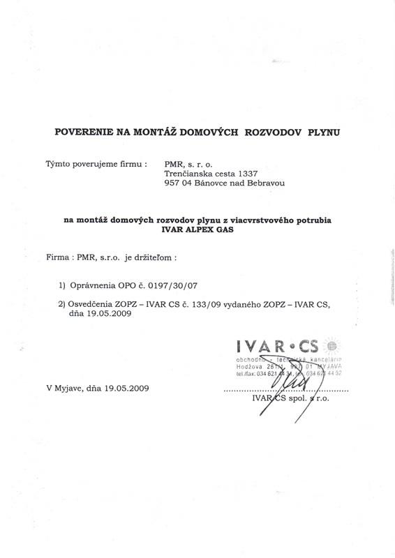 d1c235068 Výber z našich oprávnení / certifikátov
